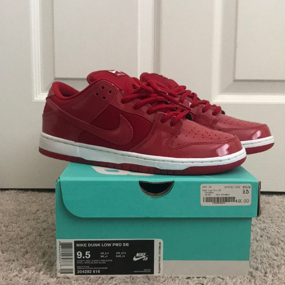 "separation shoes a0653 f4d69 BNIB Nike SB dunk size 9.5 ""Ruby Red Slipper"" NWT"